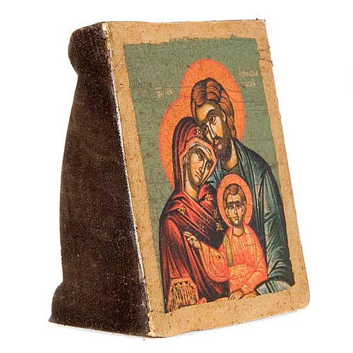 The Holy Family, screen-printed profiled icon 3