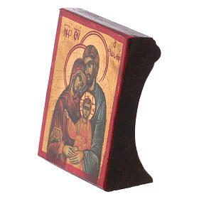 Ícone Sagrada Família serigrafia madeira trabalhada s2