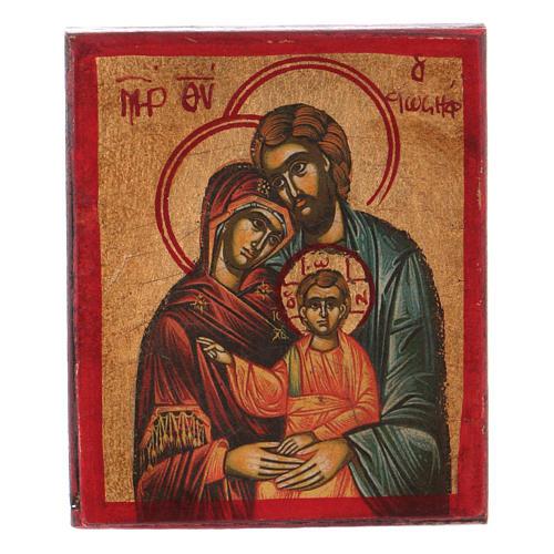 Ícone Sagrada Família serigrafia madeira trabalhada 1