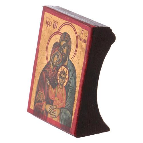 Ícone Sagrada Família serigrafia madeira trabalhada 2