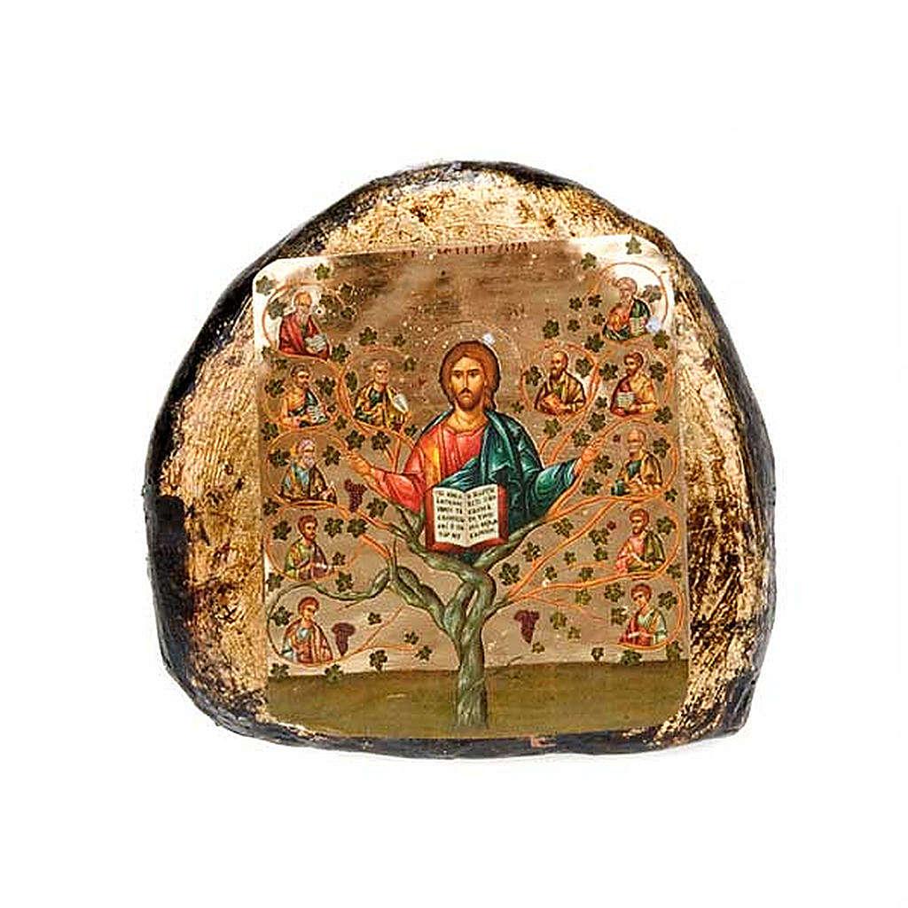 Icona stampata terracotta scene 4