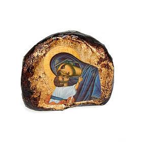 Icone stampate terracotta Gesù, Maria s3