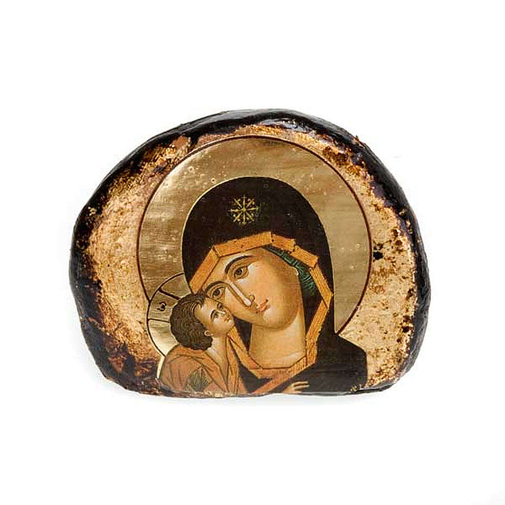 Screen-printed terracotta icons, Jesus and Mary 4