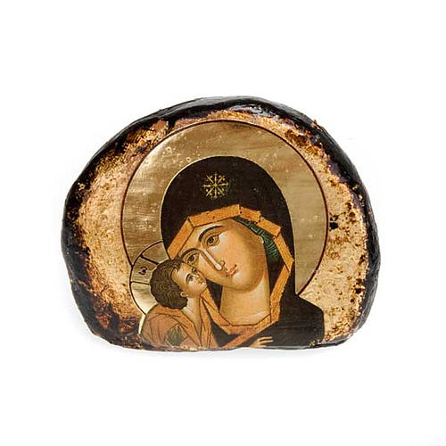 Screen-printed terracotta icons, Jesus and Mary 6