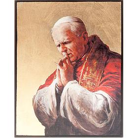 Icônes imprimées sur bois et pierre: Icône sérigraphie, Jean Paul II