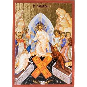 Iconos estampados madera y piedra: Ícono estampado Resurrección