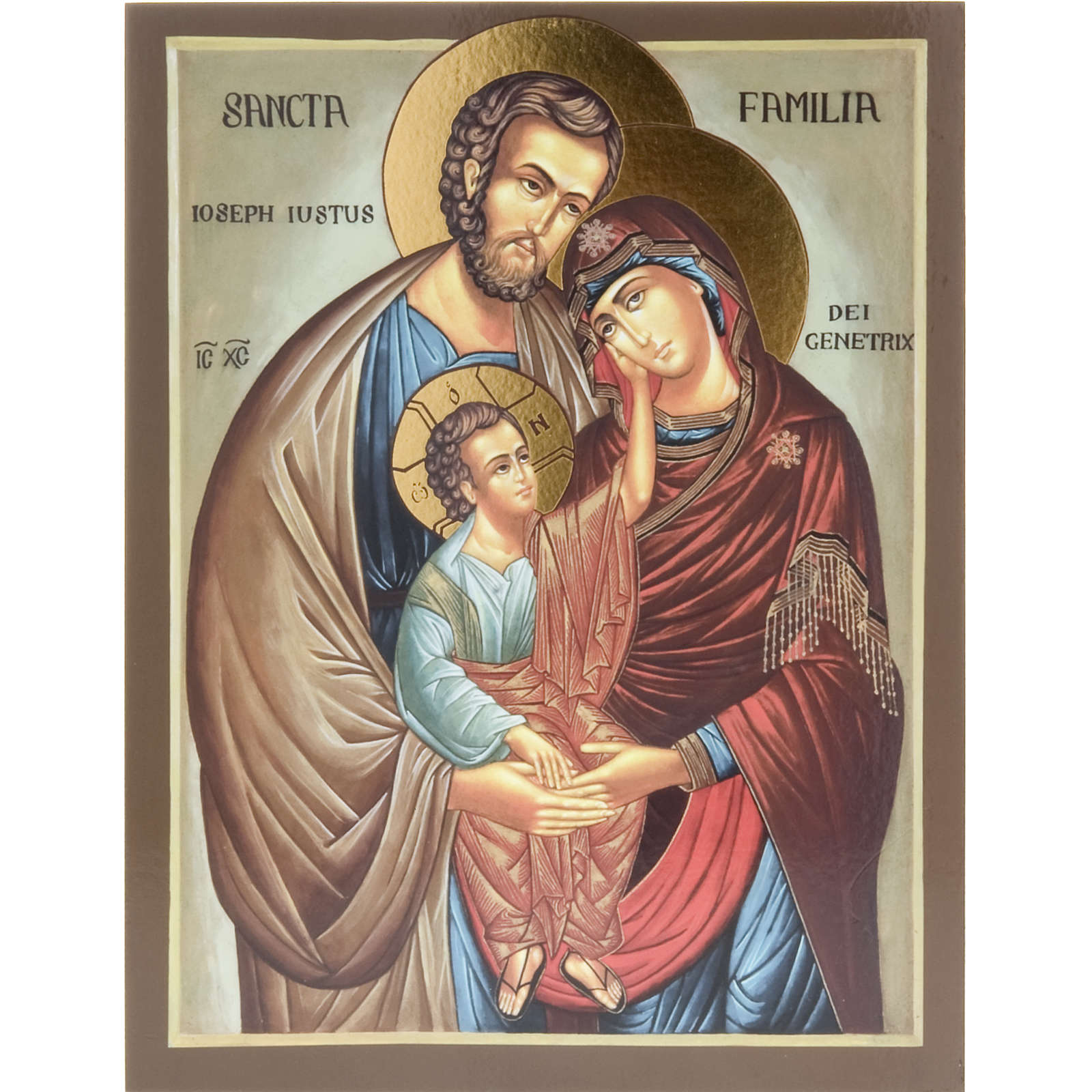 Icon print on wood, Holy Family 26x20cm 4