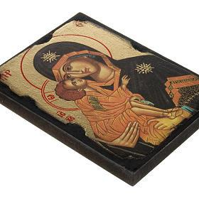 Icona stampa Madonna della Tenerezza su tavoletta s2