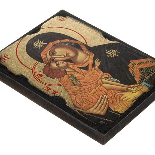 Icona stampa Madonna della Tenerezza su tavoletta 2