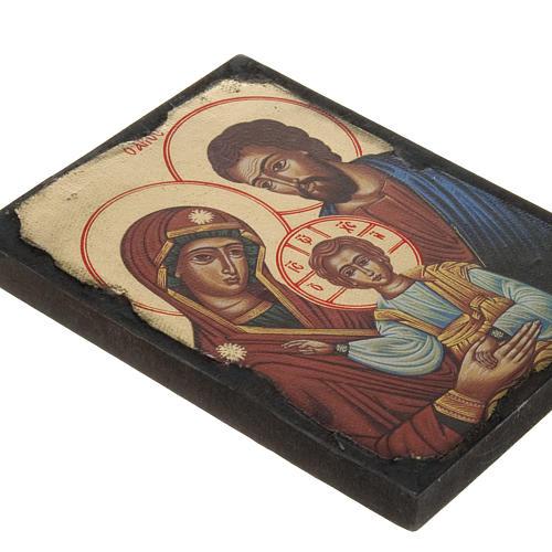 Icone Sainte Famille imprimée sur bois 2