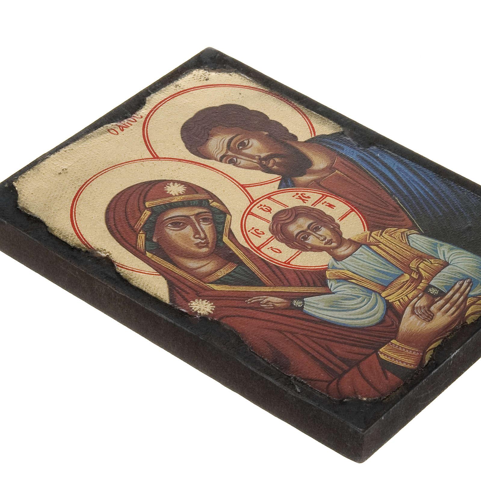 Icona stampa Sacra Famiglia su tavoletta 4