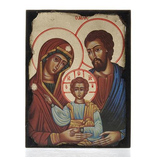 Icona stampa Sacra Famiglia su tavoletta 1