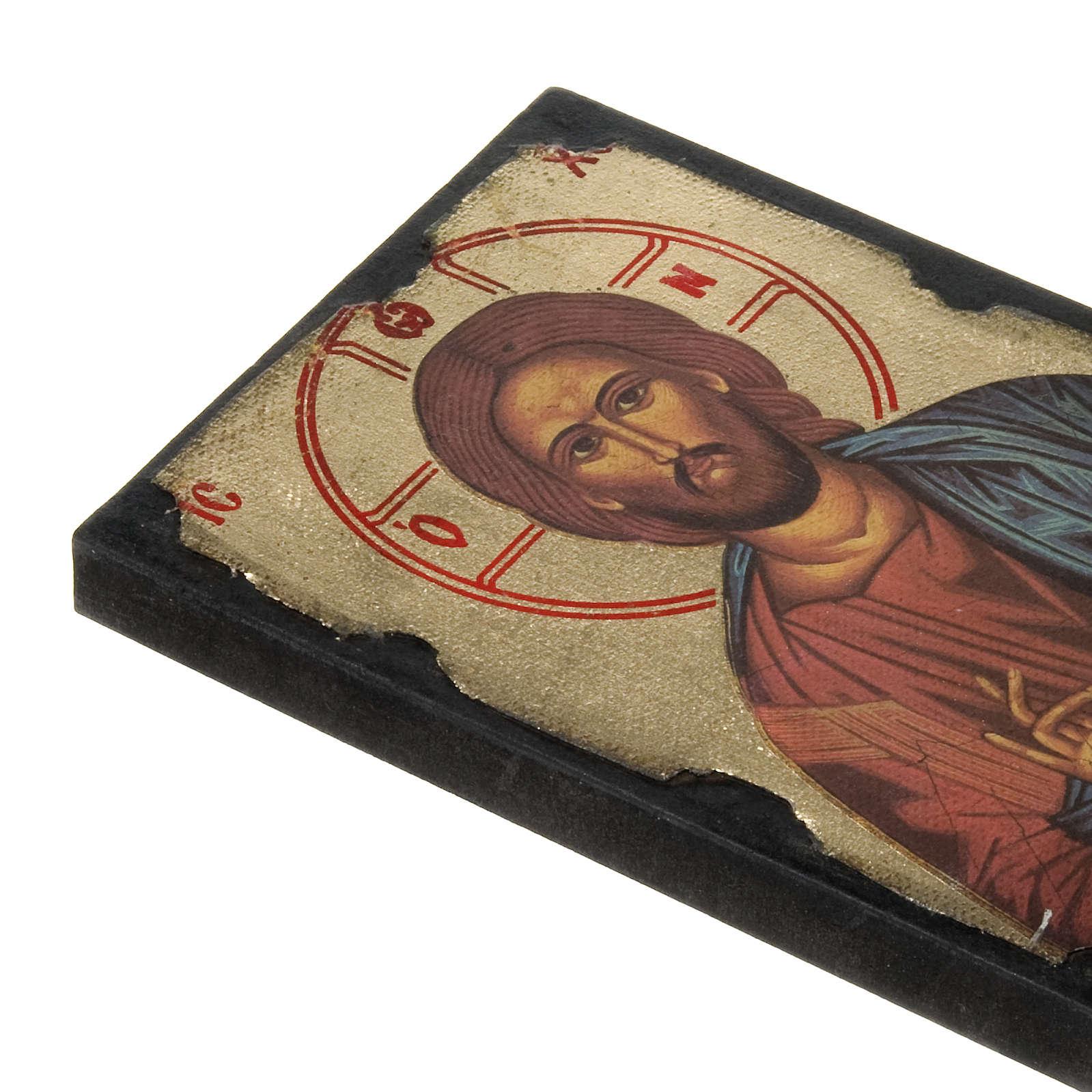 Icon print on wood, Pantocrator 4