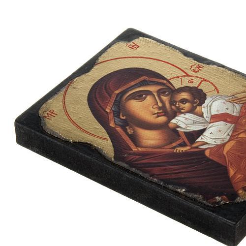 Icona stampa Madonna con bimbo manto rosso 2