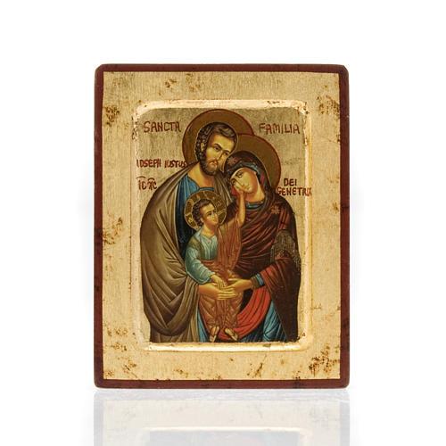 Ícone impresso Sagrada Família com oração 1