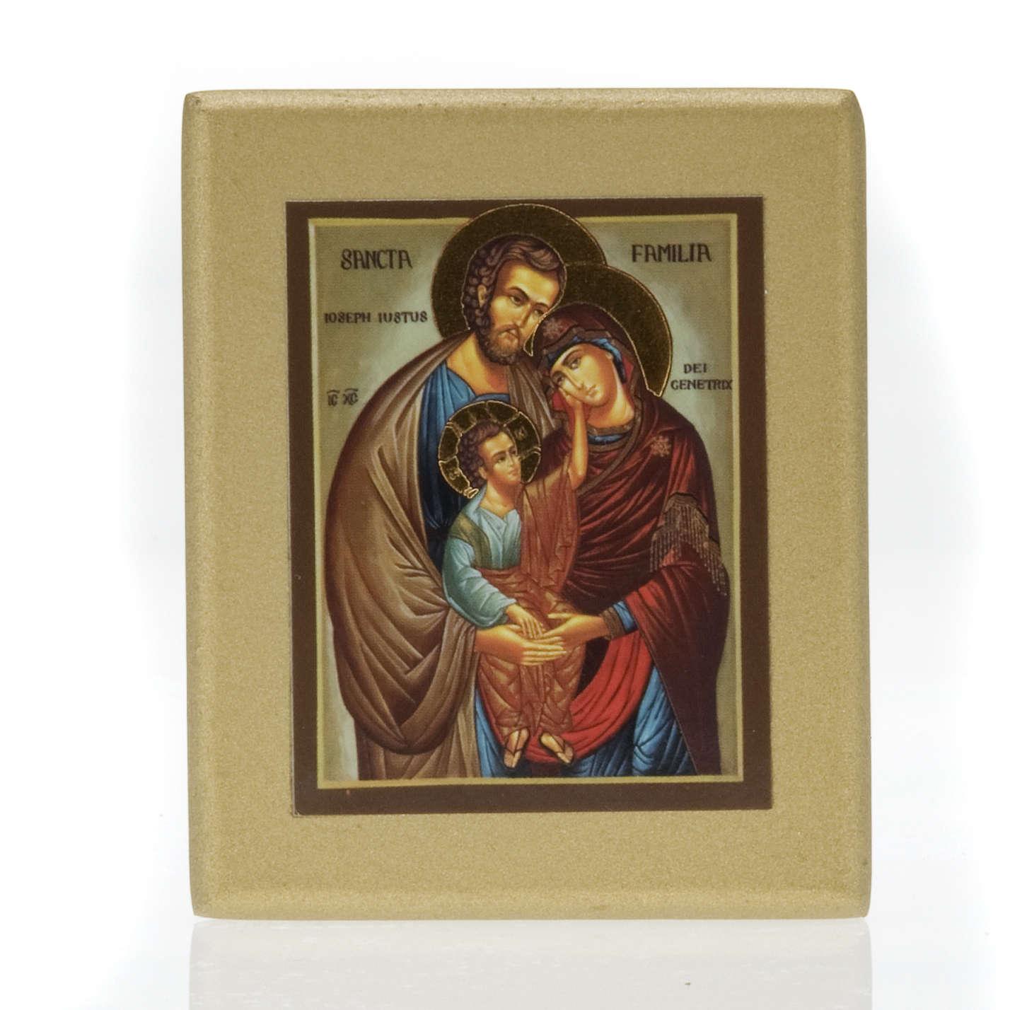 Icona stampa Sacra Famiglia fondo dorato 4
