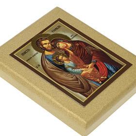 Icona stampa Sacra Famiglia fondo dorato s2