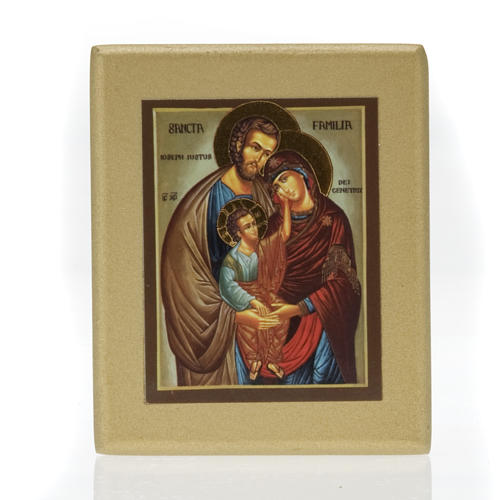 Icona stampa Sacra Famiglia fondo dorato 1