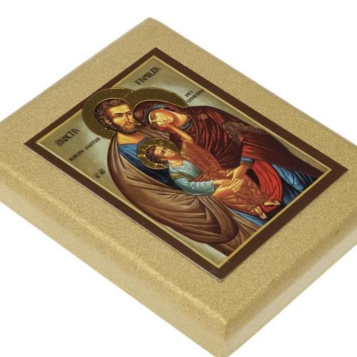 Icona stampa Sacra Famiglia fondo dorato 2