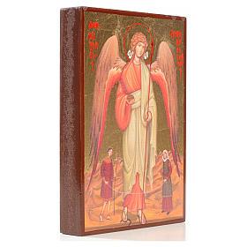 Icono serigrafiado San Rafael hoja de oro 14x10 s2
