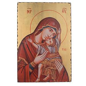 Icônes imprimées sur bois et pierre: Icône sérigraphiée Vierge Kardiotissa 60x40 cm