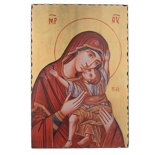 Icona serigrafata Madonna Kardiotissa 60x40 cm 1