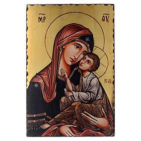 Icônes imprimées sur bois et pierre: Icône sérigraphiée Vierge Hodigitria 60x40 cm