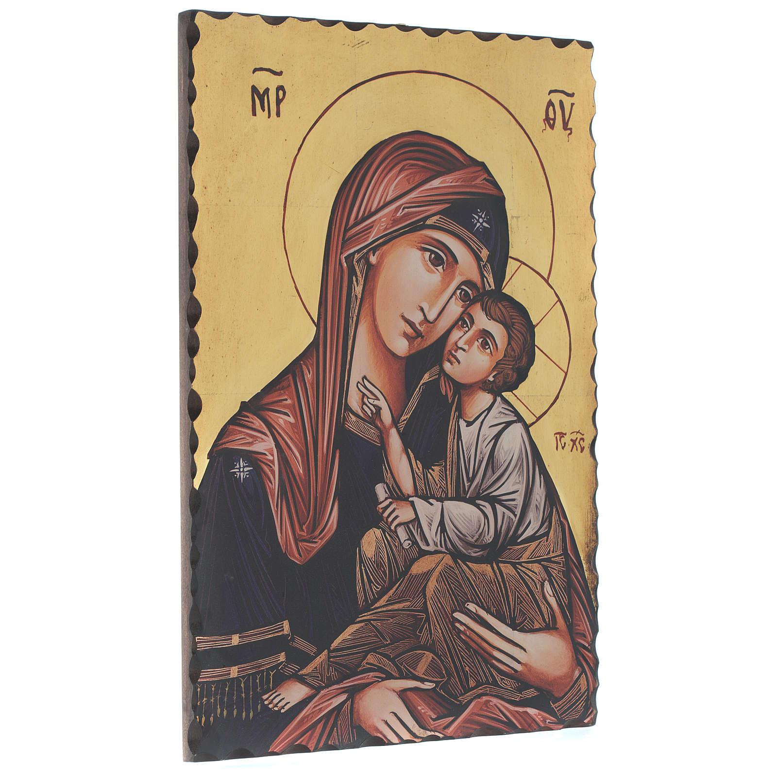 Icona serigrafata Vergine Odigitria 60x40 cm 4