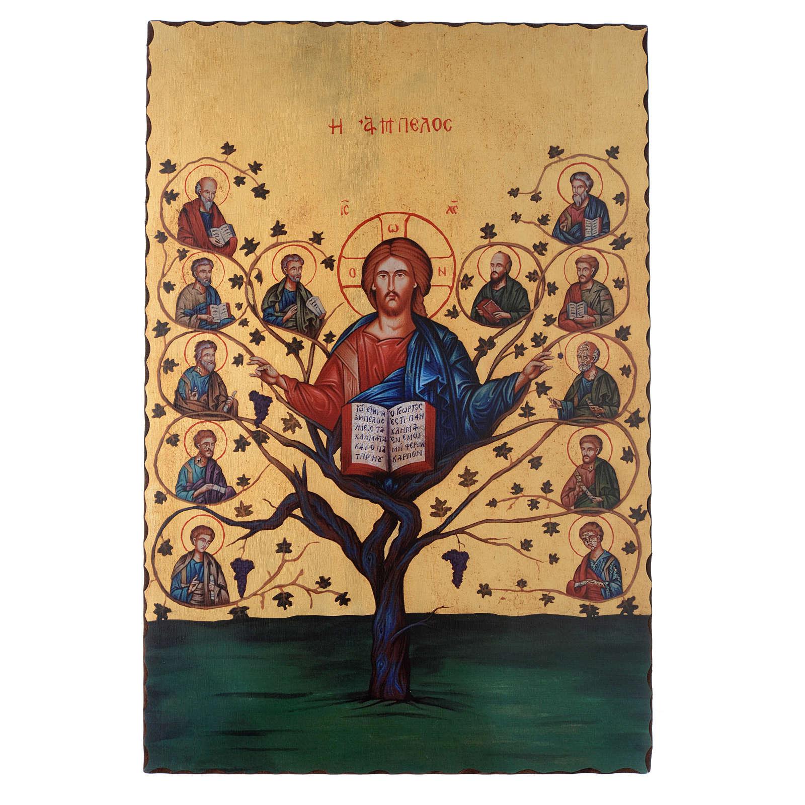 Silk-screened icon The Tree of Life 60x40 cm 4