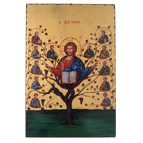 Silk-screened icon The Tree of Life 60x40 cm 1