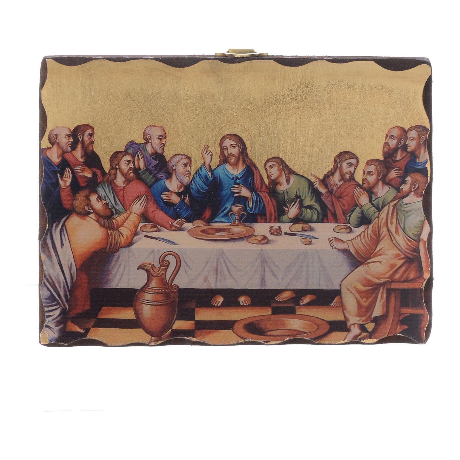 Silk-screened icon Last Supper 18x14 cm 4