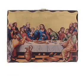 Silk-screened icon Last Supper 18x14 cm s1