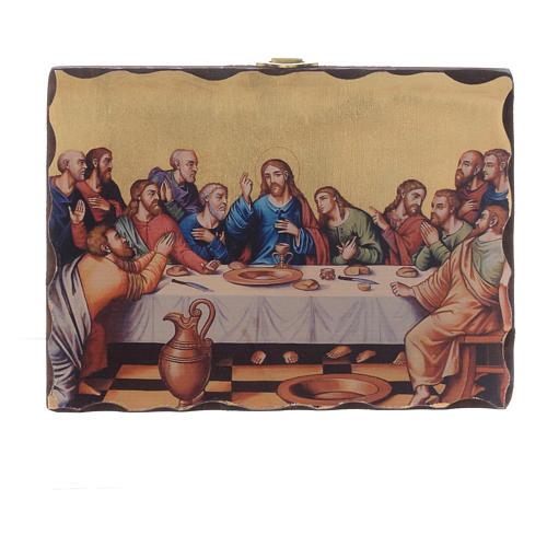 Silk-screened icon Last Supper 18x14 cm 1