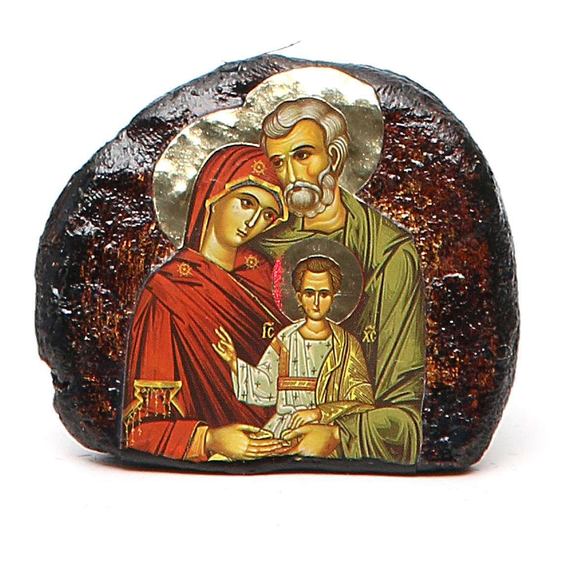 Icona terracotta stampa Sacra Famiglia 4