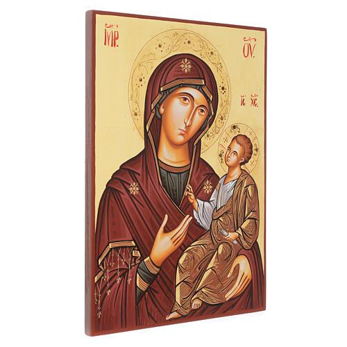 Icona sacra Vergine Hodighitria 45 x 30 cm Romania 2