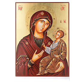 Rumanian hand-painted icons: Romanian sacred icon Virgin Hodegetria 45x30 cm
