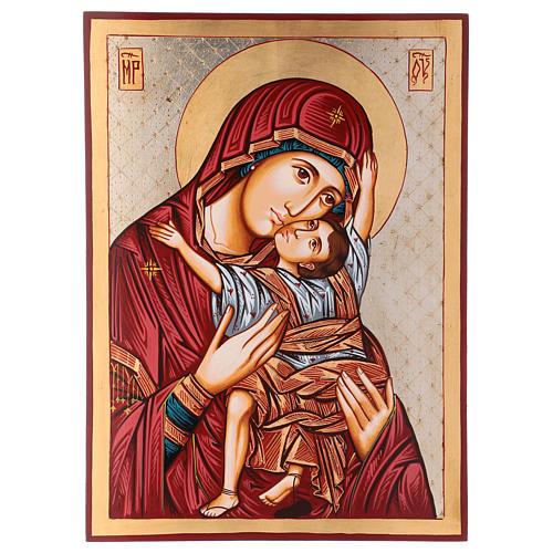 Icona Vergine Vladimir 45 x 30 cm Romania 1