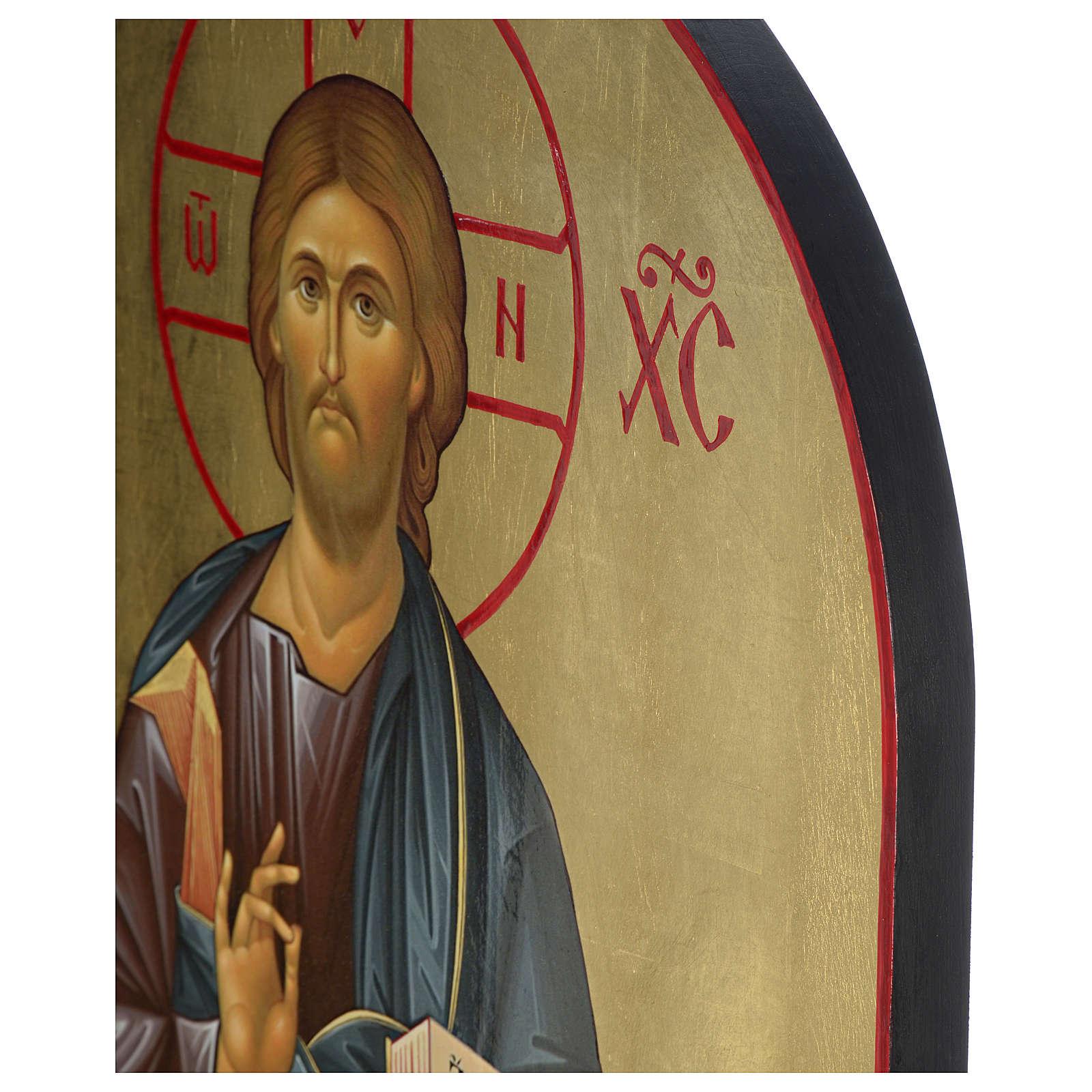 Icône russe Christ Pantocrator sérigraphie 120x50 cm 4