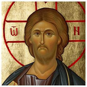 Ícone russo Cristo Pantocrator serigrafia 120x50 cm s3