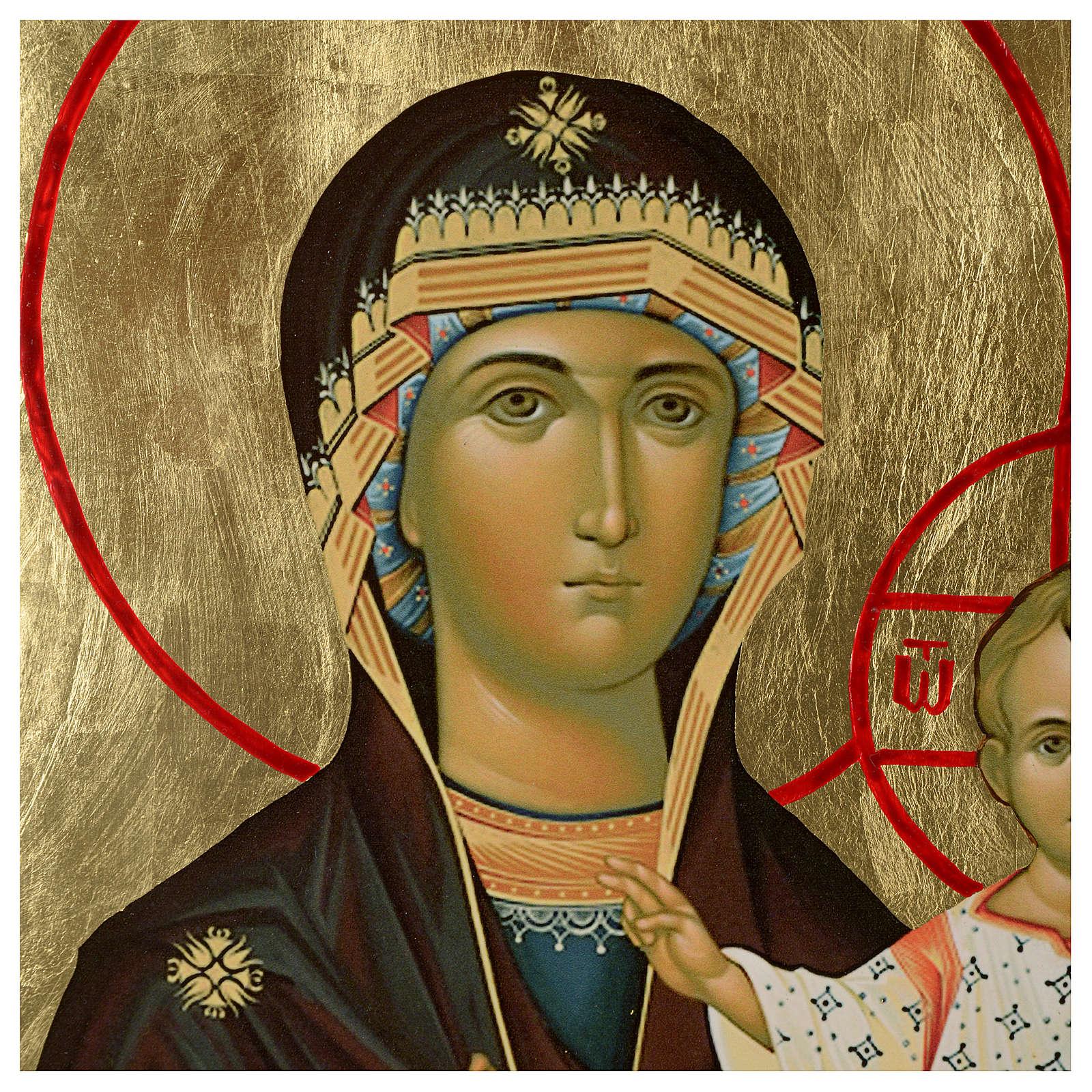 Icona russa Madonna Smolensk serigrafia 120x50 4