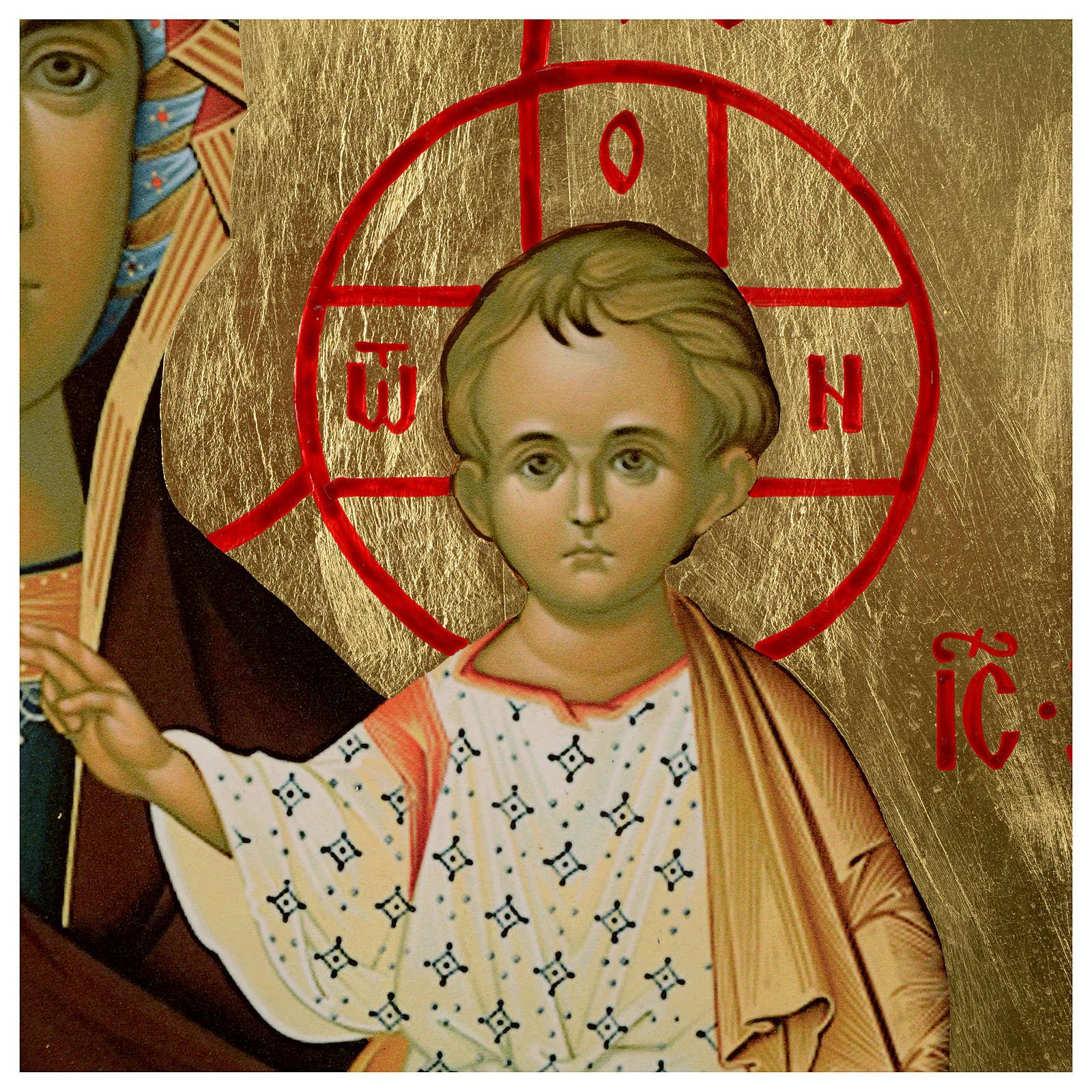 Ícone russo Nossa Senhora de Smolensk serigrafia 120x50 cm 4