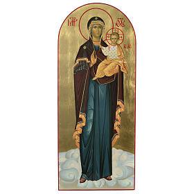Ícone russo Nossa Senhora de Smolensk serigrafia 120x50 cm s1