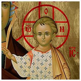 Ícone russo Nossa Senhora de Smolensk serigrafia 120x50 cm s3