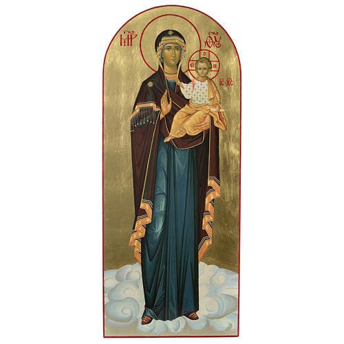 Ícone russo Nossa Senhora de Smolensk serigrafia 120x50 cm 1