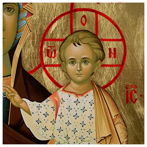Ícone russo Nossa Senhora de Smolensk serigrafia 120x50 cm 3