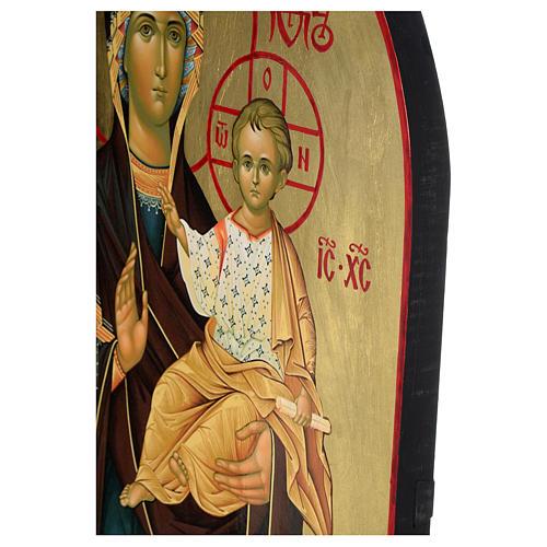 Ícone russo Nossa Senhora de Smolensk serigrafia 120x50 cm 5