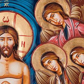 Icona Battesimo di Gesù 45x120 cm s4