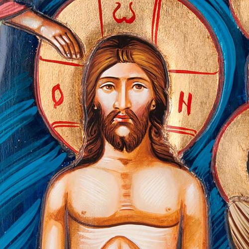 Icona Battesimo di Gesù 45x120 cm 3