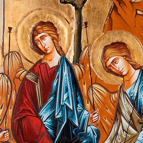 Icona SS Trinità tavola sagomata sfondo oro 45x120 cm 3