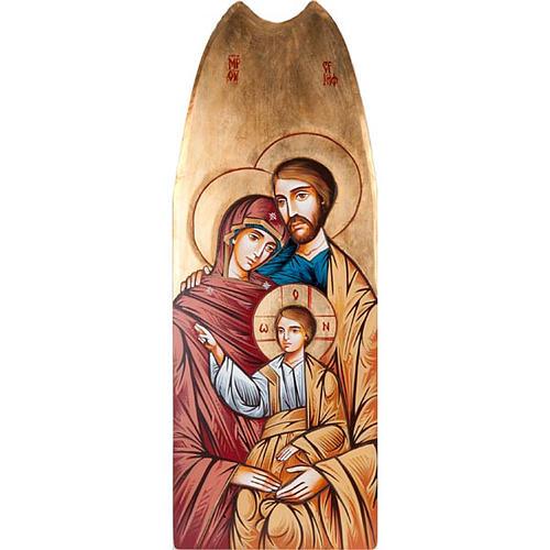 Icona Sacra Famiglia fondo oro 45x120 cm 1